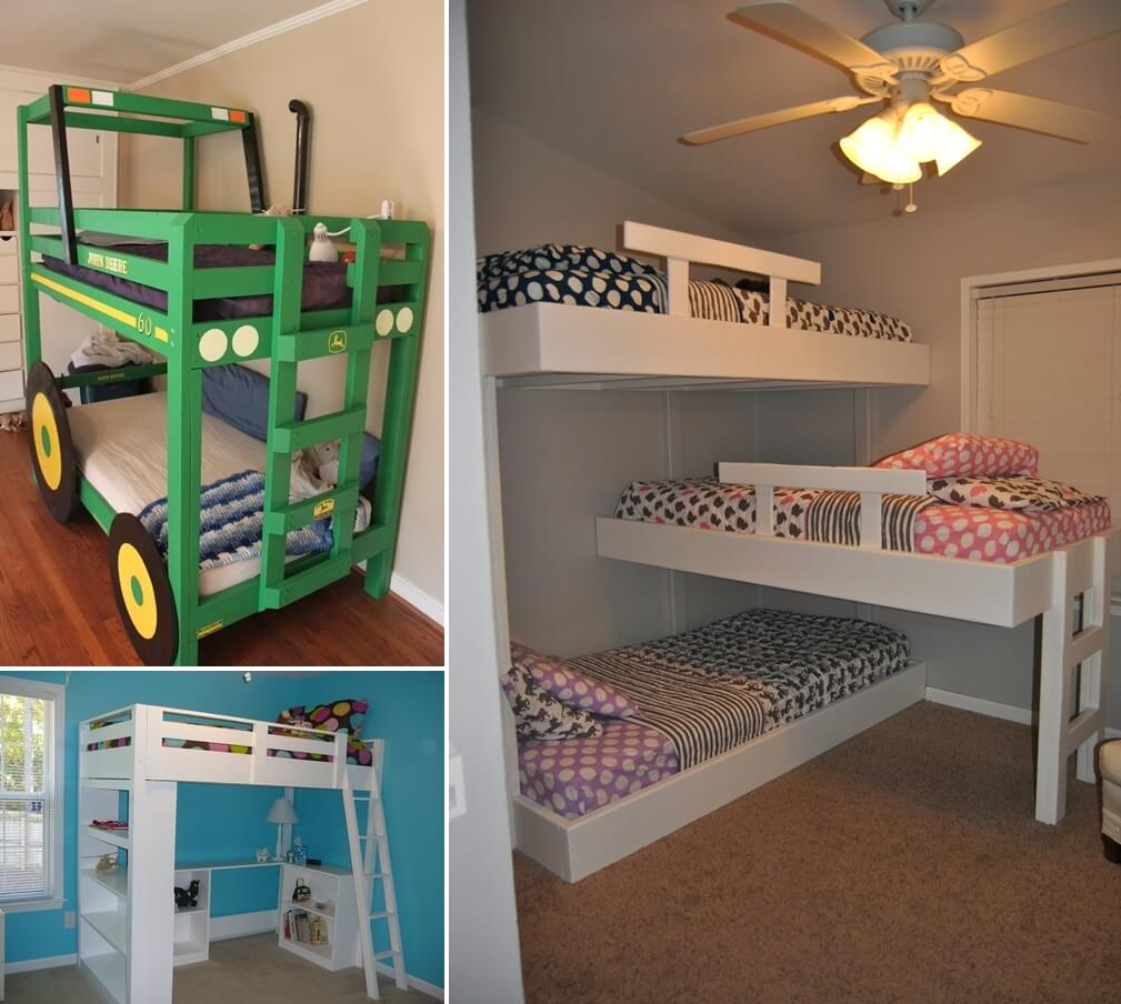 Build a bunk bed diy kids furniture projects how to - Cool loft bed designs ...