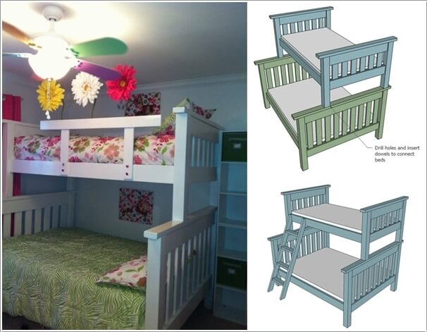 10 Cool DIY Bunk Bed Ideas for Kids 8