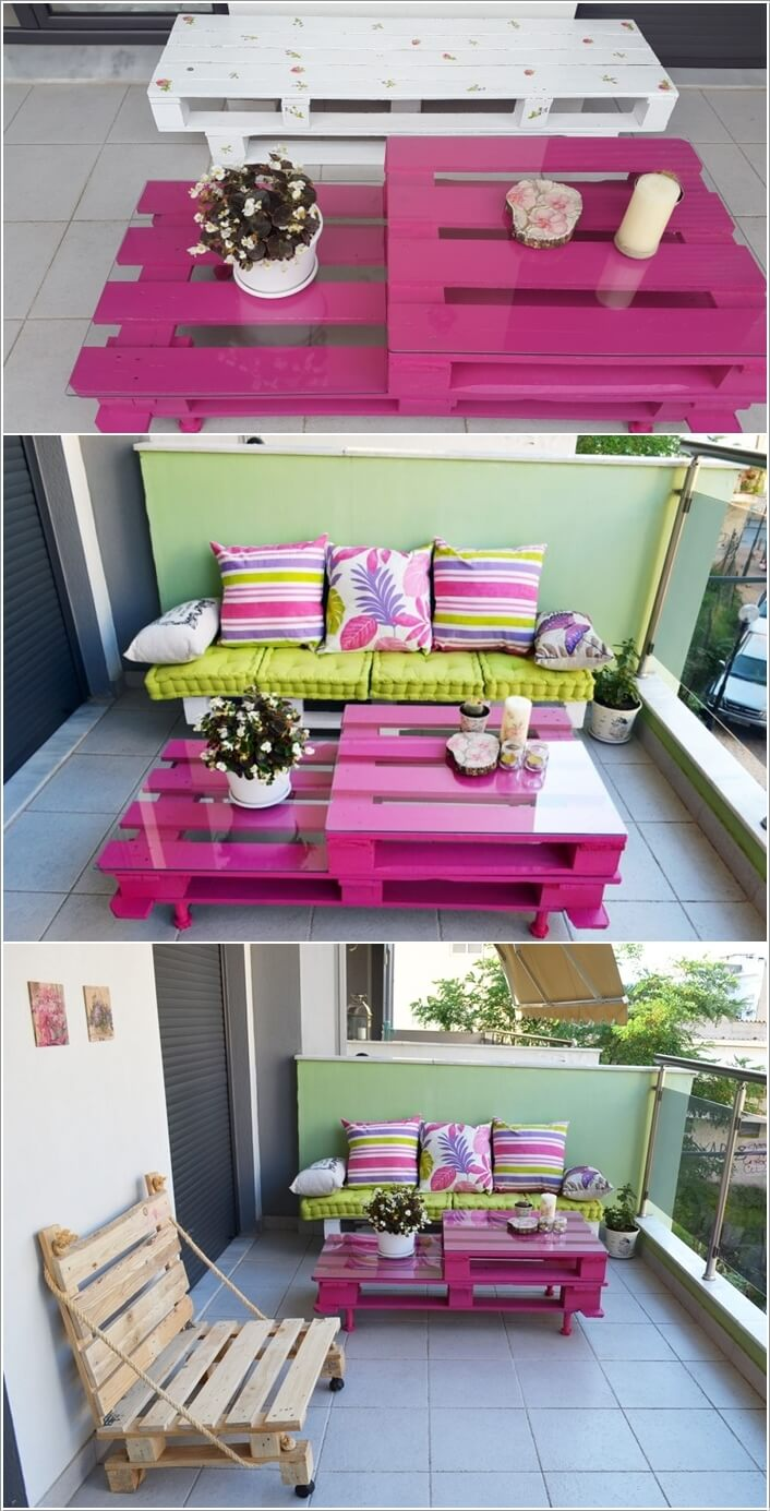 Balcony furniture diy - 10 Cool Diy Furniture Pieces For Your Balcony 4