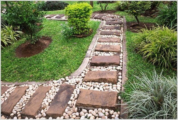 10 Cool Garden Walkway And Stepping Stones Combos 3