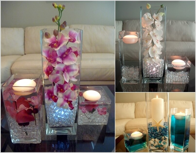 10 creative diy coffee table centerpiece ideas for Coffee table centerpiece