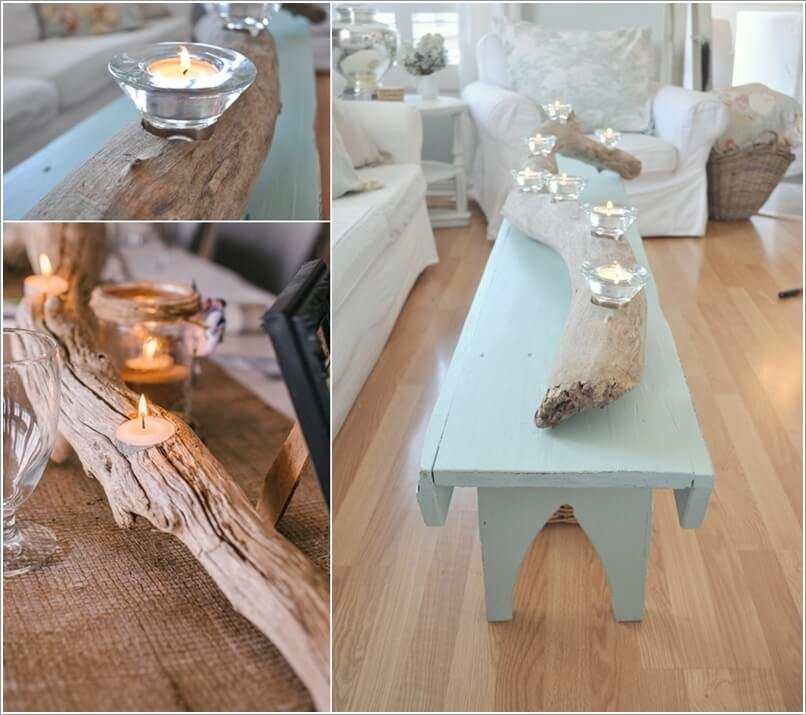 10 creative diy coffee table centerpiece ideas Building Coffee Table Ideas