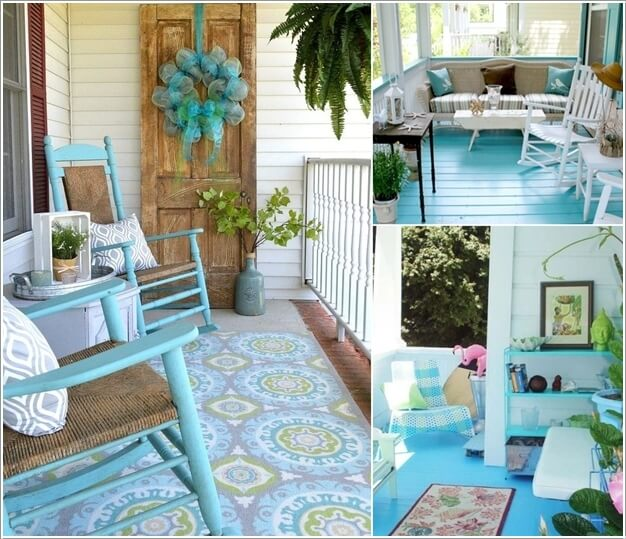 Porch Pictures For Design And Decorating Ideas: 10 Lovely DIY Summer Front Porch Decor Ideas