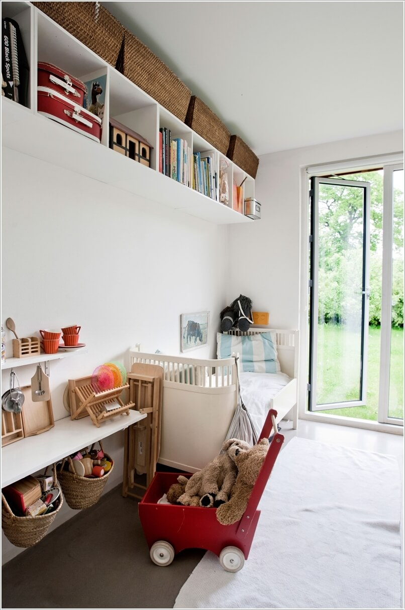 10 Clever Ways to Store More in a Small Kids' Room 10