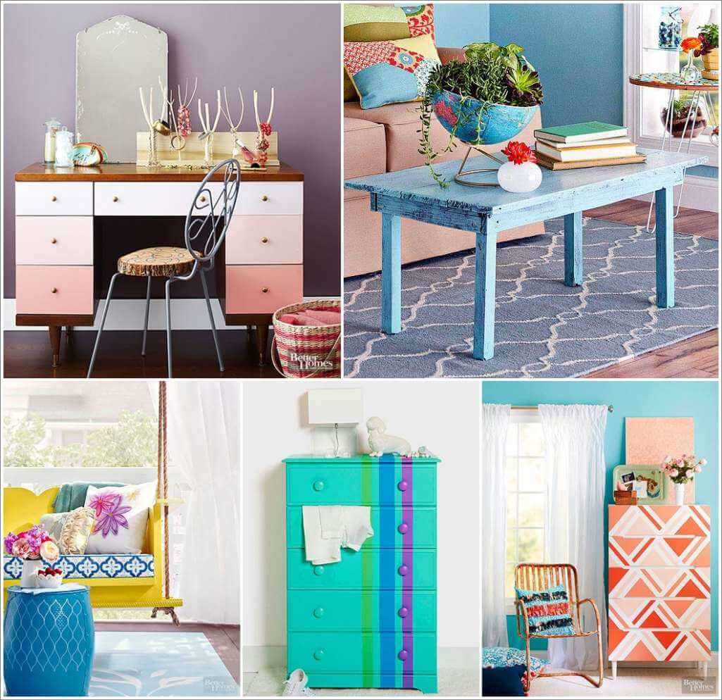 11 Interesting Ways to Paint Furniture for a Makeover 1