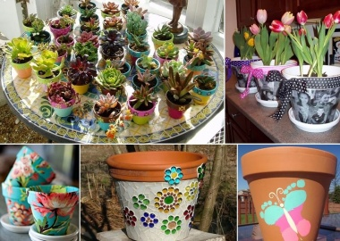 15 Cool Ways to Give a Makeover to Your Terracotta Planters fi