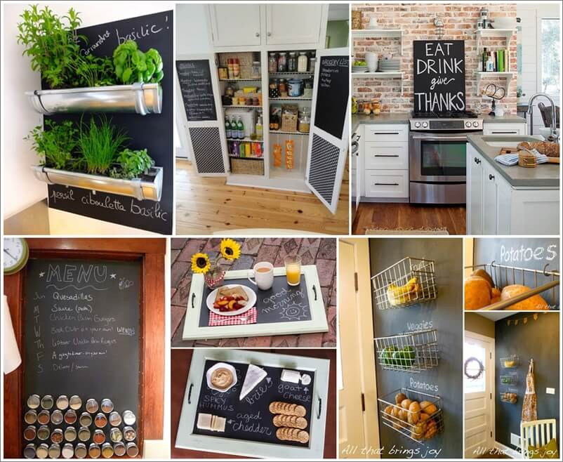 21 Interesting Kitchen Projects with Chalkboard Paint 1