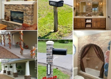 21 Spectacular Ways to Spruce Up Your Home with Faux Stone fi