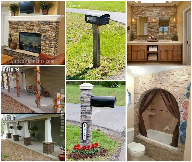 21 Spectacular Ways to Spruce Up Your Home with Faux Stone 1