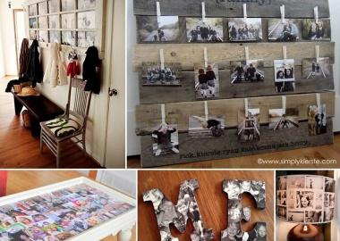 32 Thrilling Ways to Make a Photo Collage Decor fi
