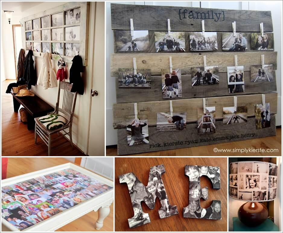 32 Thrilling Ways to Make a Photo Collage Decor 1