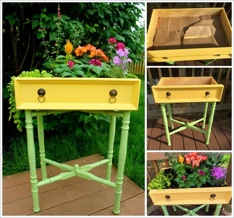 Recycle A Drawer into a Mini Garden 1
