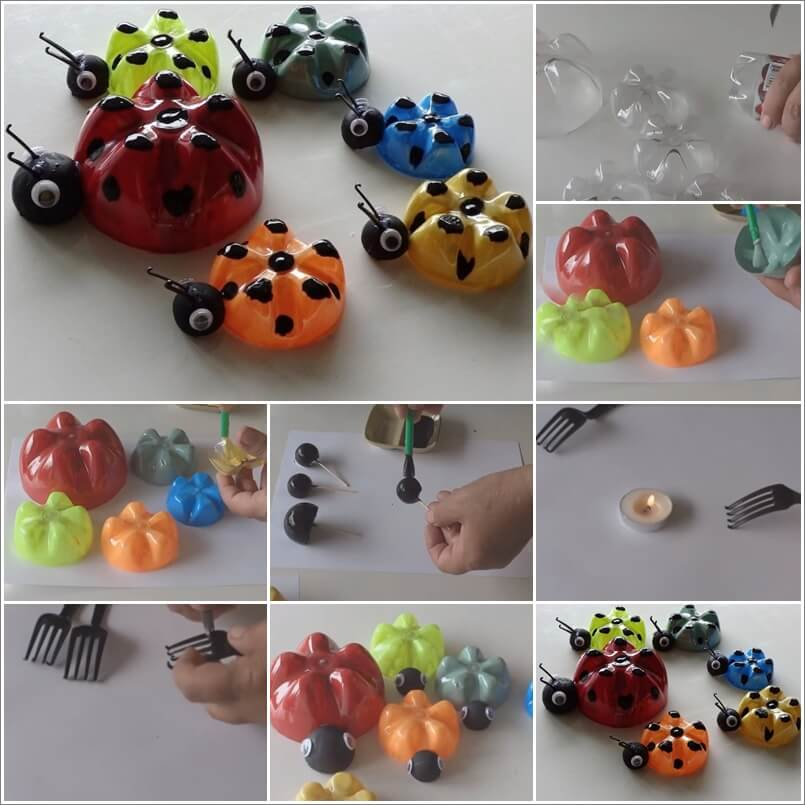 These Plastic Bottle Lady Bugs Are Just Awesome 1