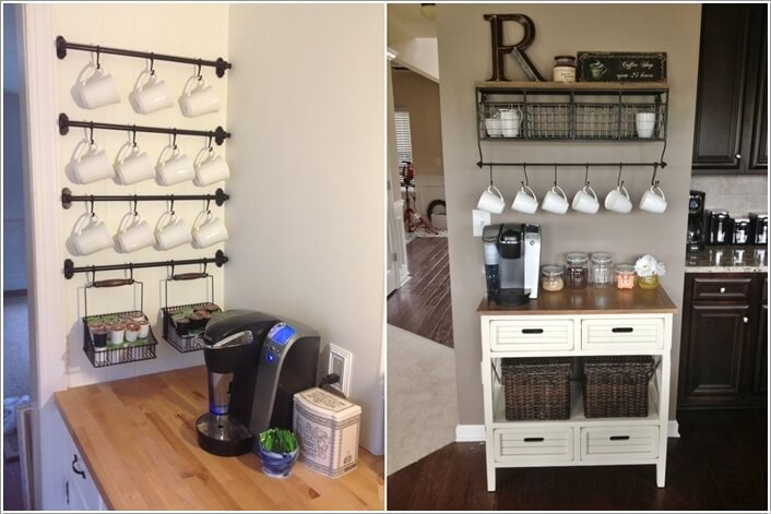 10 Cool Coffee Mug Storage Ideas For Your Station 2