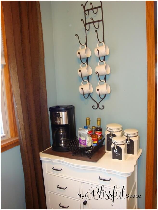 10 cool coffee mug storage ideas for your coffee station for Mug racks ideas