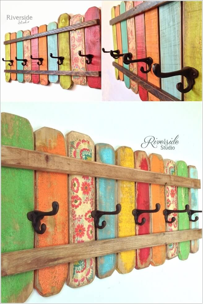 10 Cool DIY Coat Rack Ideas from Re-purposed Materials 2