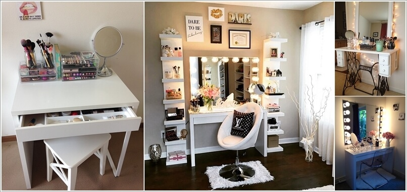 10 cool diy makeup vanity table ideas solutioingenieria