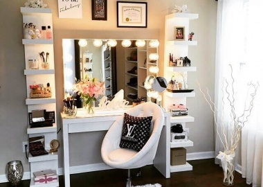 10 Cool DIY Makeup Vanity Table Ideas fi