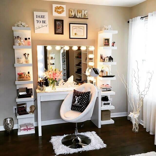 10 Cool Diy Makeup Vanity Table Ideas