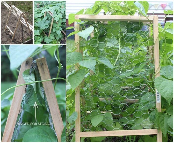 10 Easy Yet Beautiful DIY Garden Trellis Projects 9
