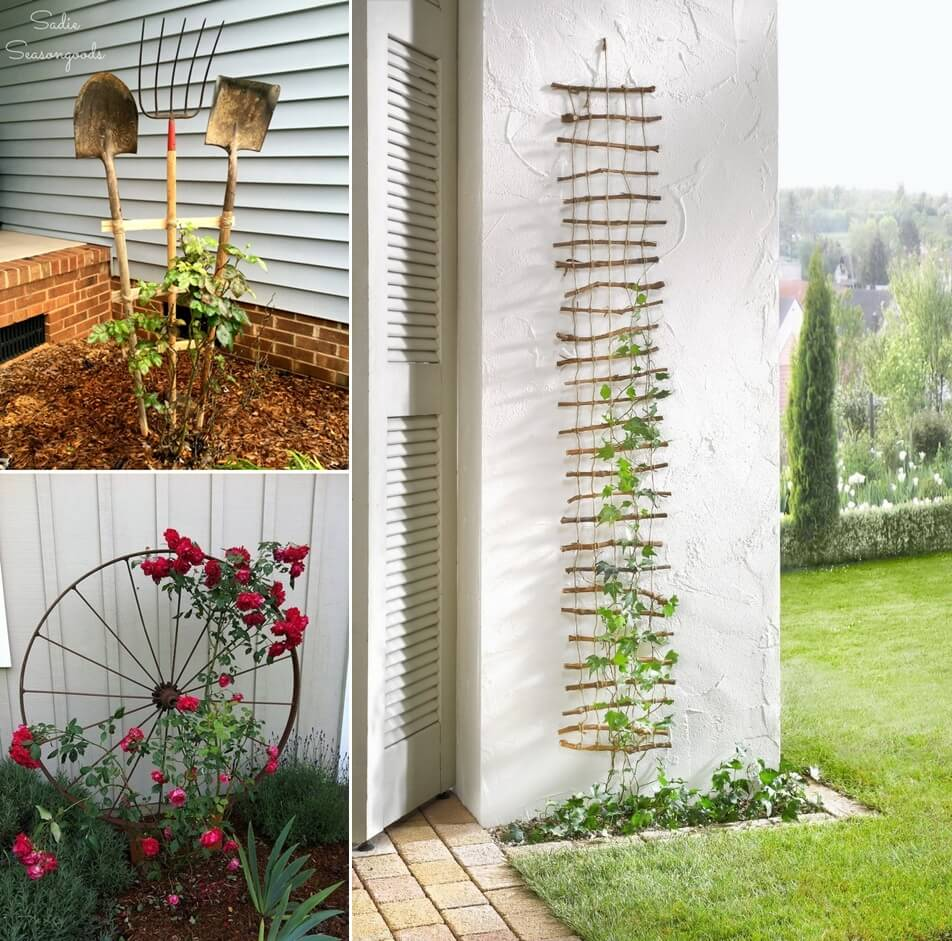 10 easy yet beautiful diy garden trellis projects for Simple diy garden designs