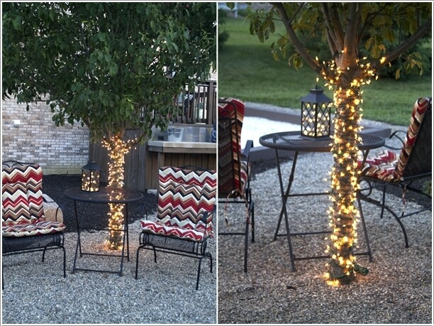 10 Magical Outdoor Decor Projects with Fairy Lights 4