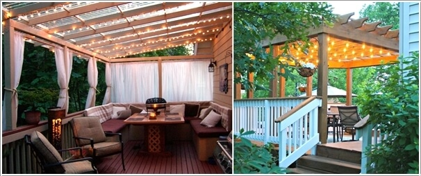 10 Magical Outdoor Decor Projects with Fairy Lights 5