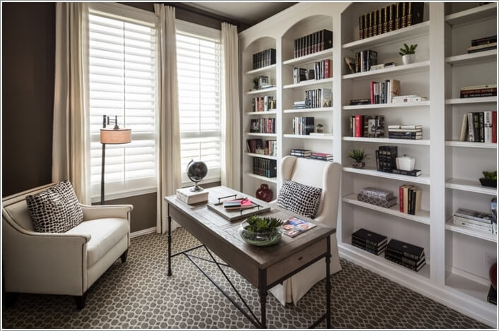 10 Stylish Ways to Dress The Windows of Your Home Office 2