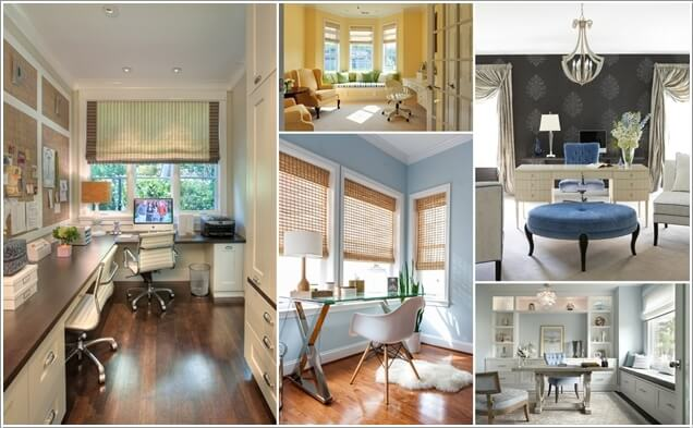 10 Stylish Ways to Dress The Windows of Your Home Office a