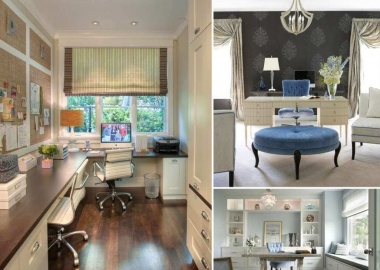 10 Stylish Ways to Dress The Windows of Your Home Office fi