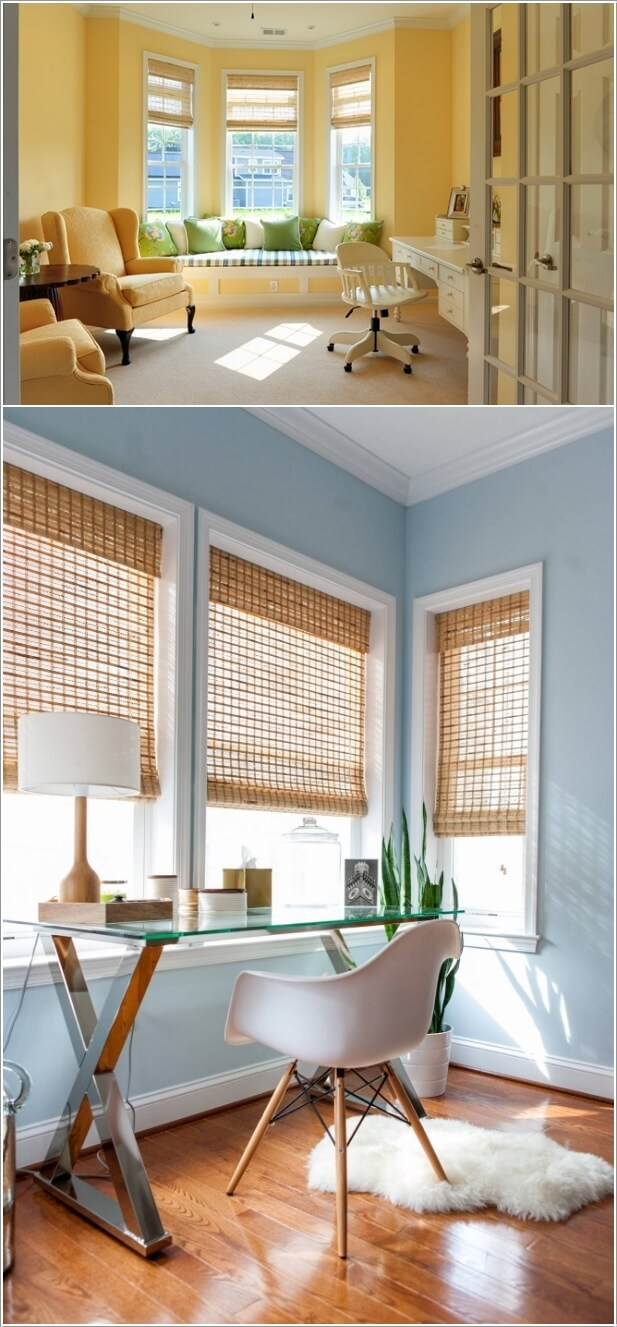 10 Stylish Ways to Dress The Windows of Your Home Office 3