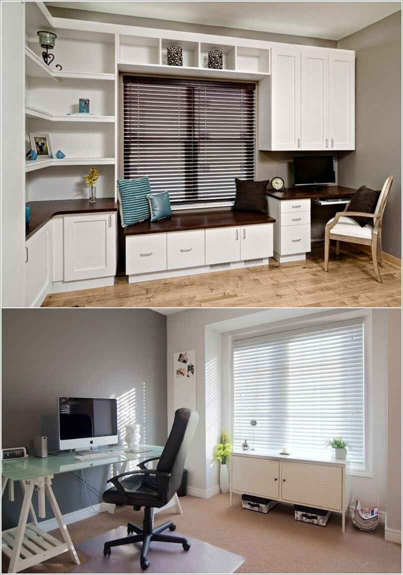 10 Stylish Ways to Dress The Windows of Your Home Office 4