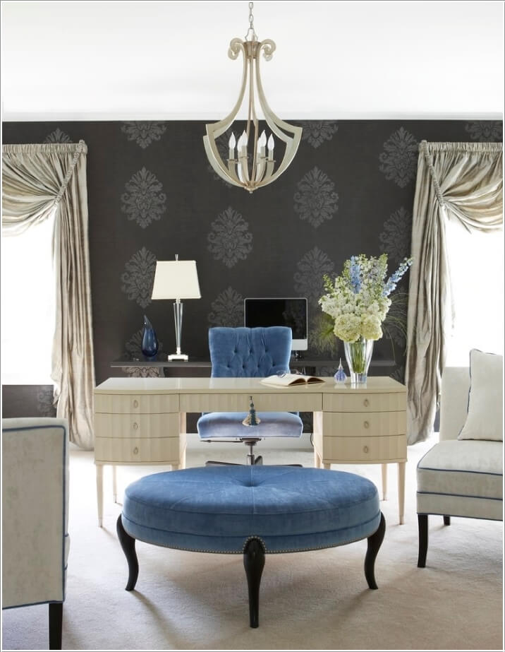 10 Stylish Ways to Dress The Windows of Your Home Office 5