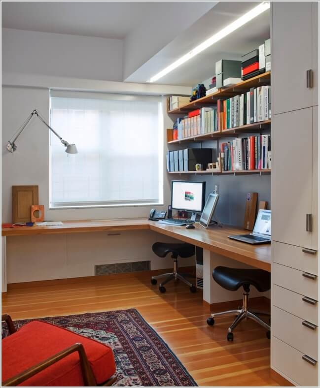 10 Stylish Ways to Dress The Windows of Your Home Office 6