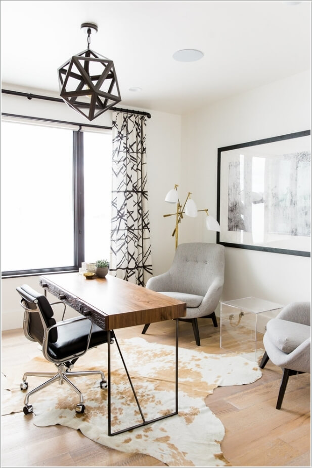 10 Stylish Ways to Dress The Windows of Your Home Office 9