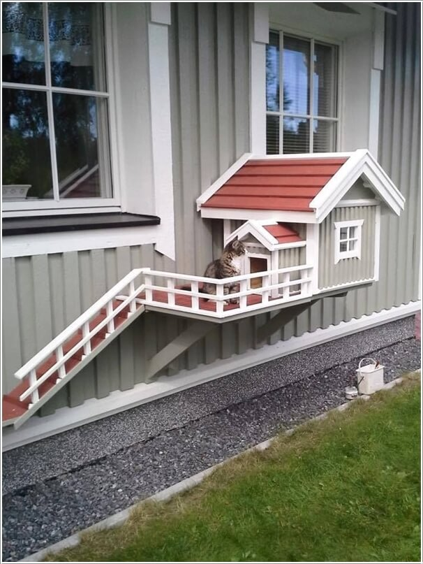 Sensational 10 Super Cool Cat Houses And Cabins For Your Kitty Largest Home Design Picture Inspirations Pitcheantrous