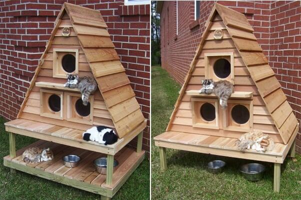 Do It Yourself Home Design: 10 Super Cool Cat Houses And Cabins For Your Kitty