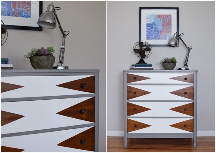 10 Ways to Give a Makeover to a Chest of Drawers 4