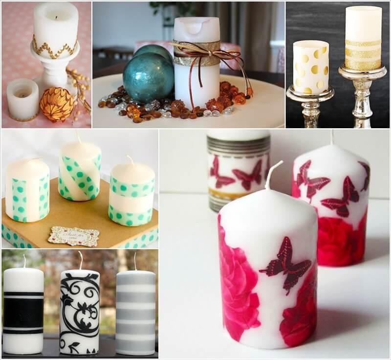 12 Elegant Ways to Decorate Plain Pillar Candles 1
