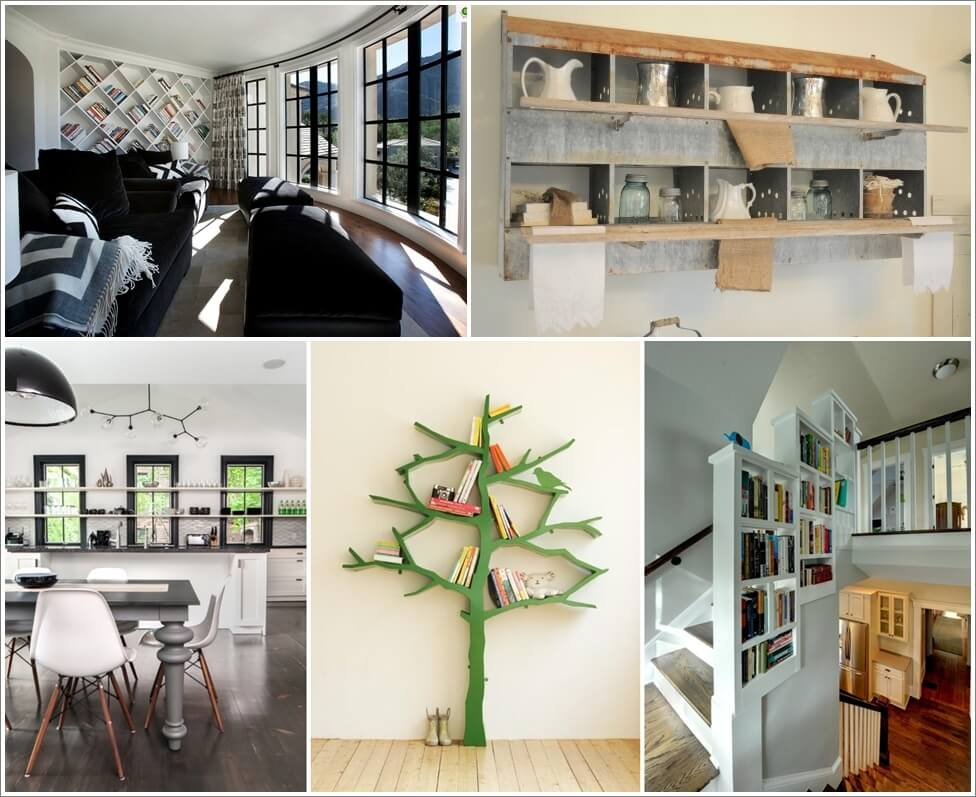 16 Cool and Creative Shelving Designs for Your Home 1