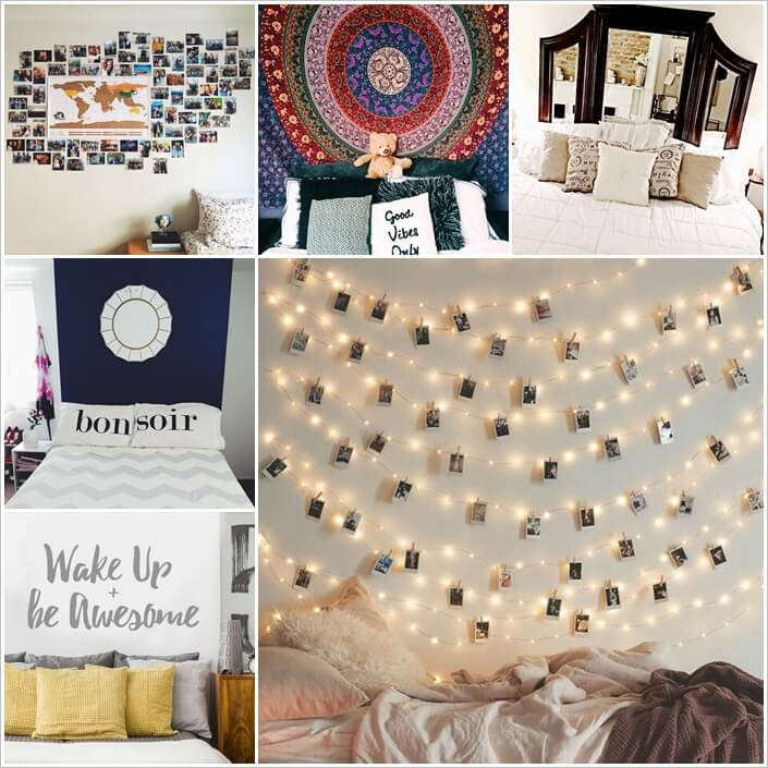 19 Cool Ways to Decorate a Bed That Has No Headboard 1