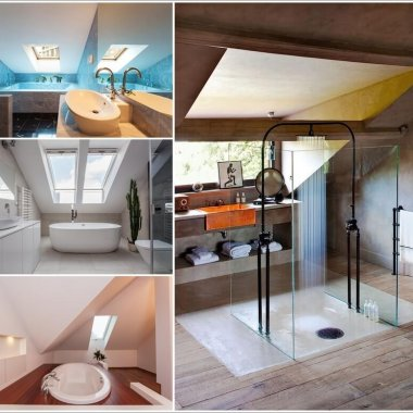 34 Amazing and Cozy Attic Bathroom Designs 1