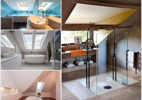 34 Amazing and Cozy Attic Bathroom Designs 1
