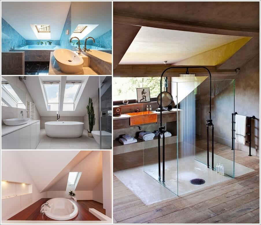 48 Amazing And Cozy Attic Bathroom Designs Amazing Attic Bathroom Designs Model