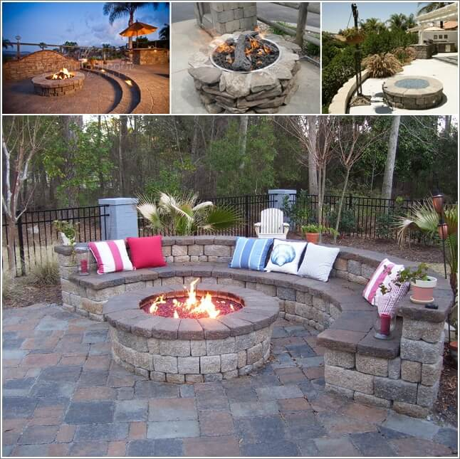 9 sizzling stone fire pit designs for your home 39 s outdoor for Backyard rock fire pit ideas