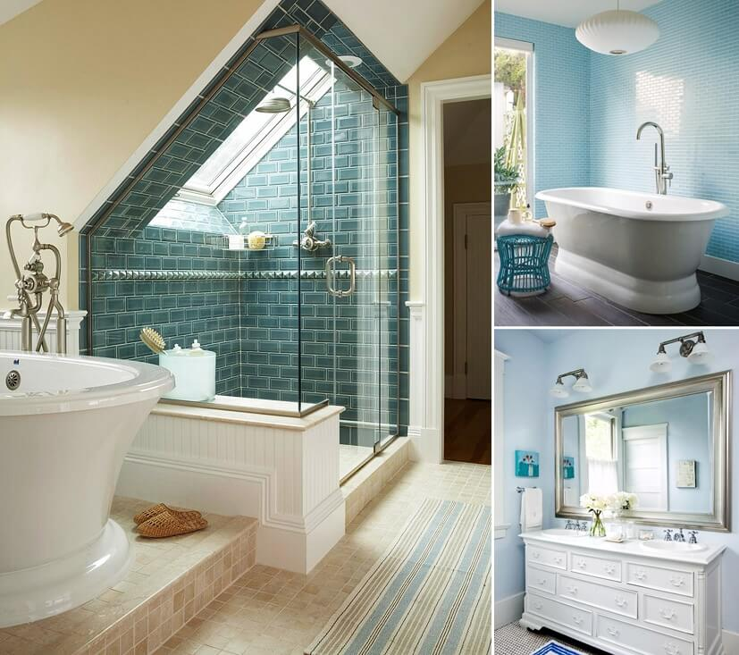 Blue bathroom ideas home decor for Blue bathroom ideas