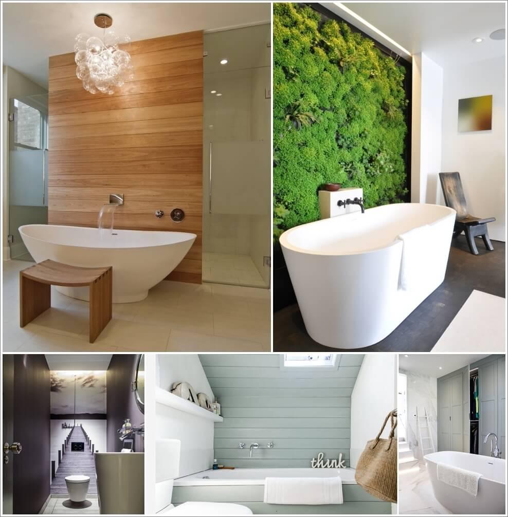 Creative and Interesting Bathroom Wall Designs 1