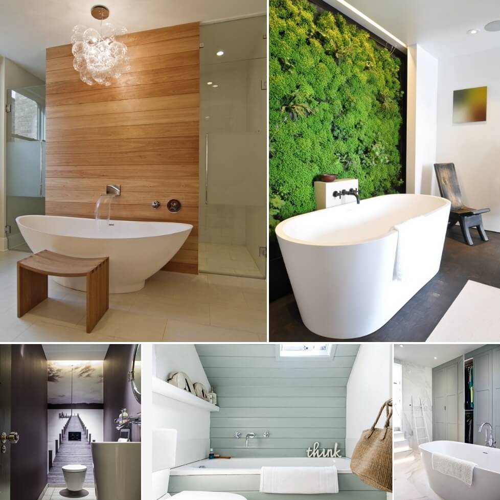 Creative and interesting bathroom wall designs for Bathroom wall