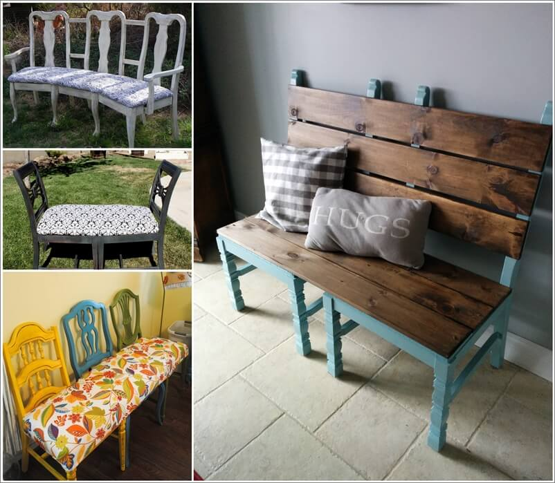 Here Are Some Cool Recycled Chair Bench Ideas