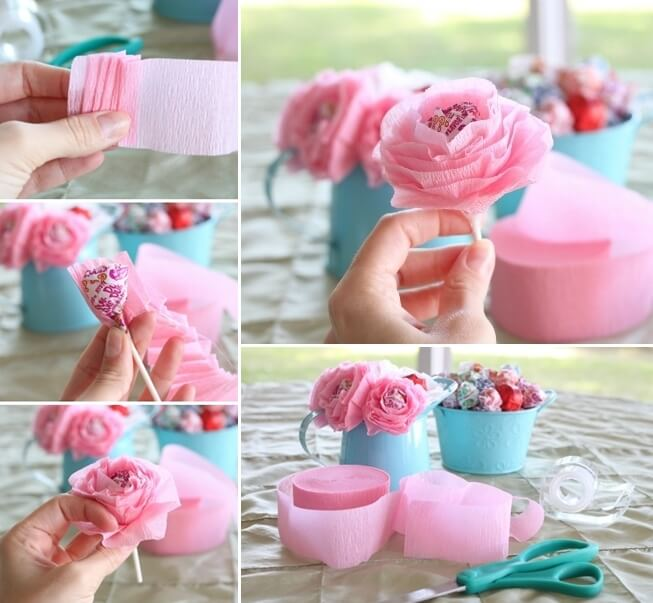 These Lollipop Flowers will Make a Perfect Birthday Party Centerpiece